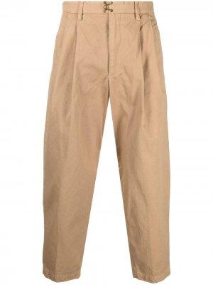 Укороченные брюки чинос прямого кроя Kolor. Цвет: нейтральные цвета