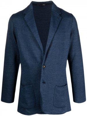 Пиджак из джерси Lardini. Цвет: синий