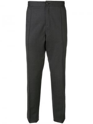 Классические брюки Z Zegna. Цвет: серый
