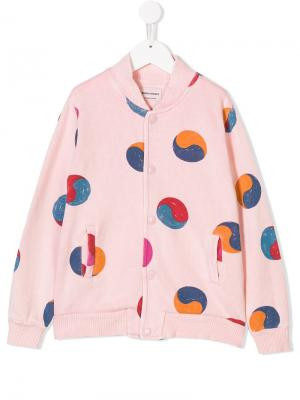 Printed bomber jacket Bobo Choses. Цвет: розовый