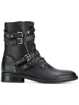 Ботинки на молнии сбоку Trussardi Jeans. Цвет: черный