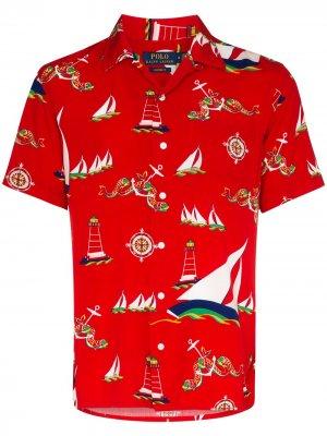 Рубашка с короткими рукавами и принтом Polo Ralph Lauren. Цвет: разноцветный