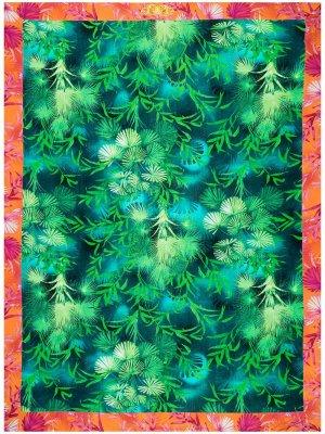 Пляжное полотенце Jungle Versace. Цвет: синий