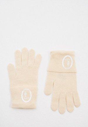 Перчатки Trussardi Jeans. Цвет: бежевый