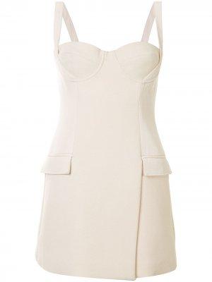 Платье-бюстье длины мини Dion Lee. Цвет: белый