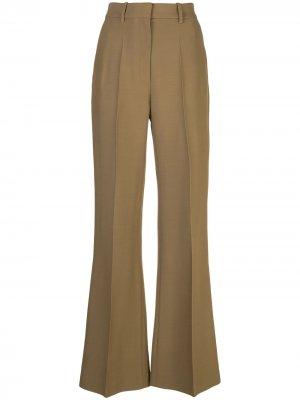 Расклешенные брюки с завышенной талией Partow. Цвет: зеленый