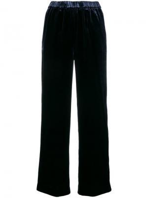 Velvet cropped trousers Aspesi. Цвет: синий
