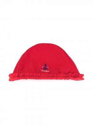 Шляпа с вышивкой Familiar. Цвет: красный