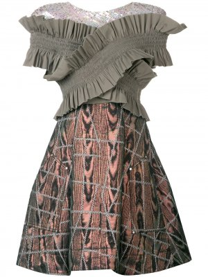Платье So Sorry Talbot Runhof. Цвет: серый