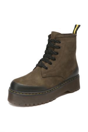 Ботинки KING BOOTS. Цвет: коричневый