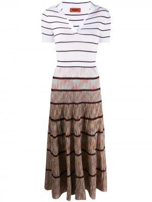 Трикотажное платье в полоску Missoni. Цвет: розовый