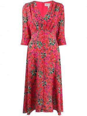 Платье Eve с цветочным принтом Saloni. Цвет: розовый
