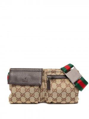 Поясная сумка Shelly с монограммой GG Gucci Pre-Owned. Цвет: коричневый