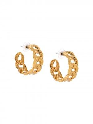 Серьги-кольца Tara Jennifer Behr. Цвет: золотистый
