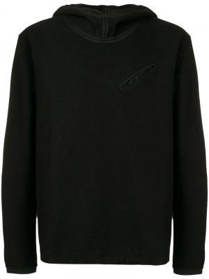 Свитер с капюшоном Ten C. Цвет: черный