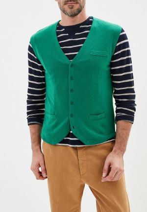 Жилет United Colors of Benetton. Цвет: зеленый
