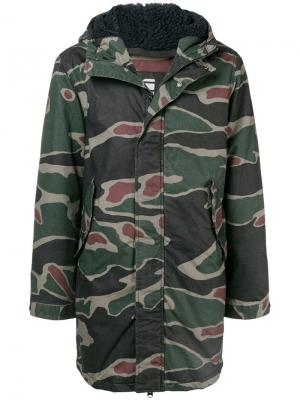 Hooded military jacket G-Star Raw Research. Цвет: зеленый
