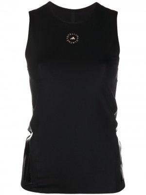 Топ без рукавов Support Core с логотипом adidas by Stella McCartney. Цвет: черный