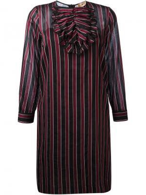 Платье в полоску Nº21. Цвет: красный