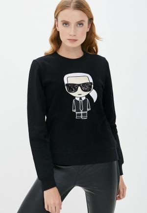 Свитшот Karl Lagerfeld. Цвет: черный
