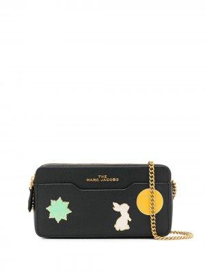 Мини-сумка с ремнем-цепочкой Marc Jacobs. Цвет: черный