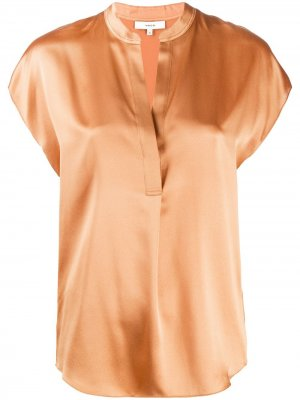 Блузка с рукавами кап Vince. Цвет: оранжевый