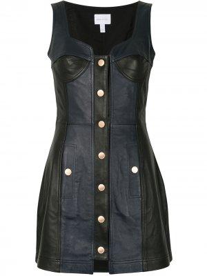 Платье на пуговицах Alice McCall. Цвет: черный