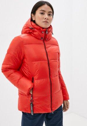 Куртка утепленная Luhta. Цвет: красный