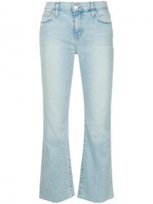 Укороченные расклешенные джинсы Current/Elliott. Цвет: синий