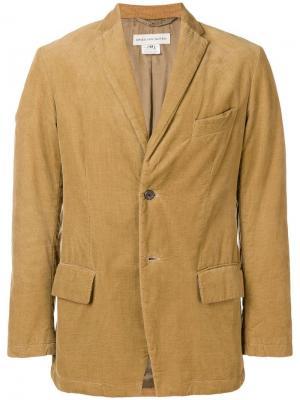 Облегающий пиджак Dries Van Noten Vintage. Цвет: коричневый