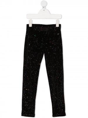 Glitter detail leggings Sonia Rykiel. Цвет: черный
