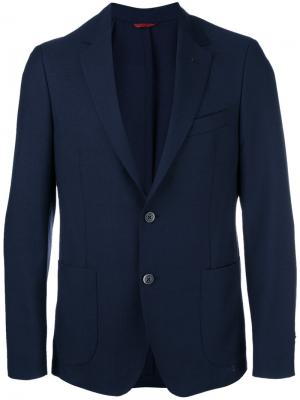 Блейзер с накладными карманами Fay. Цвет: синий