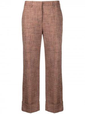 Укороченные брюки строгого кроя Lardini. Цвет: коричневый