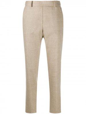 Зауженные брюки с завышенной талией Peserico. Цвет: нейтральные цвета