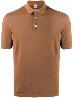 Рубашка поло с короткими рукавами Eleventy. Цвет: коричневый