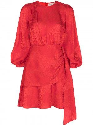 Платье Sylvie с драпировкой Sachin & Babi. Цвет: красный