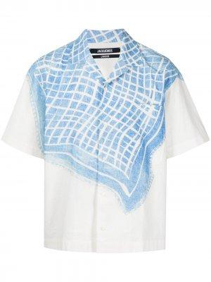 Рубашка Jean с принтом Jacquemus. Цвет: белый