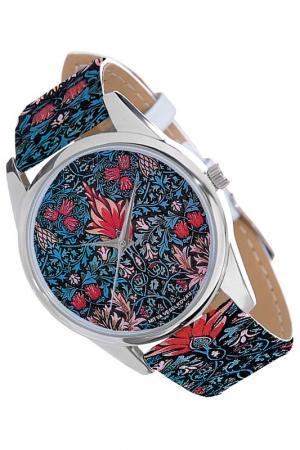 Часы Тюльпаны MITYA VESELKOV. Цвет: белый