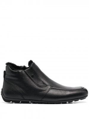 Ботинки из зернистой кожи Baldinini. Цвет: черный