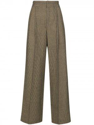 Широкие брюки в ломаную клетку Chloé. Цвет: зеленый