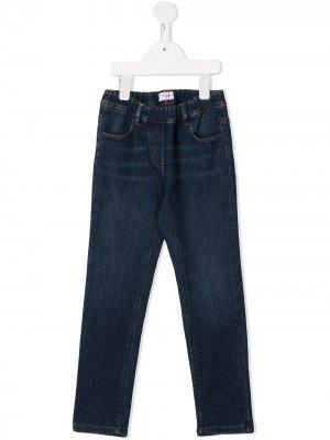 Прямые джинсы средней посадки Il Gufo. Цвет: синий