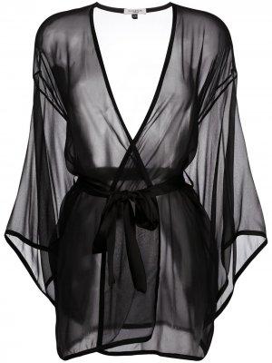 Халат Ava Gilda & Pearl. Цвет: черный