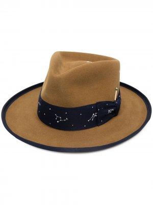 Шляпа-федора Roy Nick Fouquet. Цвет: коричневый