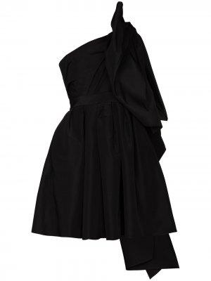 Платье мини на одно плечо с бантом Carolina Herrera. Цвет: черный