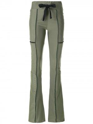 Расклешенные брюки Secret Andrea Bogosian. Цвет: зеленый