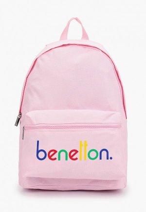 Рюкзак United Colors of Benetton. Цвет: розовый