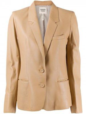 Блейзер с заостренными лацканами Hermès. Цвет: нейтральные цвета