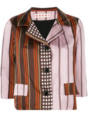 Пиджак в контрастную полоску Marni. Цвет: разноцветный
