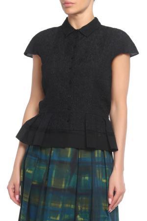Блуза Christian Dior. Цвет: черный