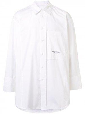 Рубашка оверсайз Wooyoungmi. Цвет: белый
